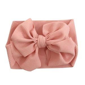 Other - Caroline Oversized Head Wrap Bow - Blush